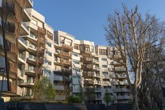Κατοικημένα κτήρια Libeskind σε Citylife, Μιλάνο στοκ εικόνες με δικαίωμα ελεύθερης χρήσης