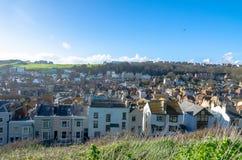 Κατοικημένα σπίτια σε Hastings, ανατολικό Σάσσεξ, στην Αγγλία στοκ φωτογραφίες με δικαίωμα ελεύθερης χρήσης