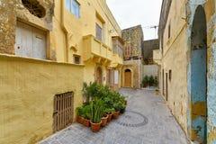 Κατοικημένα σπίτια της Μάλτας, γενική αρχιτεκτονική Στοκ Φωτογραφίες