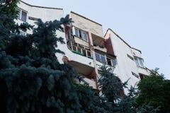Κατοικημένα loggias σπιτιών στοκ φωτογραφία με δικαίωμα ελεύθερης χρήσης