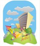 Κατοικημένη ημέρα παιδικών χαρών Στοκ φωτογραφία με δικαίωμα ελεύθερης χρήσης