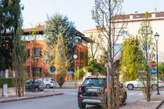 Κατοικημένη οδός Viale Antonio Gioppi σε Mantua Στοκ εικόνα με δικαίωμα ελεύθερης χρήσης