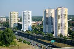 Κατοικημένοι ουρανοξύστες σε Katowice, Πολωνία Στοκ εικόνα με δικαίωμα ελεύθερης χρήσης