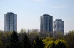 Κατοικημένοι ουρανοξύστες σε Katowice, Πολωνία Στοκ φωτογραφίες με δικαίωμα ελεύθερης χρήσης