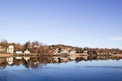 κατοικημένος ποταμός στοκ εικόνες