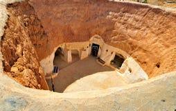 κατοικημένος τρωγλοδύτης σπηλιών στοκ φωτογραφίες