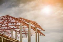 Κατοικημένο καινούργιο σπίτι κατασκευής υπό εξέλιξη Στοκ Εικόνα