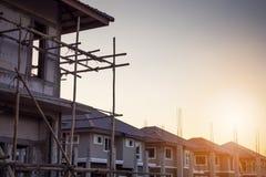 Κατοικημένο καινούργιο σπίτι κατασκευής υπό εξέλιξη Στοκ Φωτογραφίες