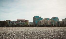 Κατοικημένο κτήριο διαμερισμάτων Στοκ Εικόνες