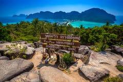 Κατουρήστε κατούρημα Viewpiont Krabi, AO Nang, Ταϊλάνδη στοκ εικόνες