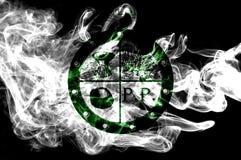 Κατουρήστε σημαία καπνού πόλεων δήμων κατουρήματος, κράτος του Οχάιου, Πολιτεία του Α διανυσματική απεικόνιση