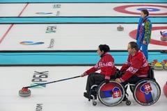 Κατσάρωμα αναπηρικών καρεκλών Στοκ εικόνα με δικαίωμα ελεύθερης χρήσης