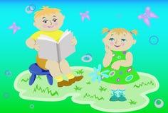 κατσίκια βιβλίων ελεύθερη απεικόνιση δικαιώματος