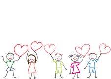 κατσίκια καρδιών Στοκ εικόνες με δικαίωμα ελεύθερης χρήσης