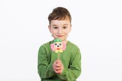 Κατσίκια με τα lollipops στοκ εικόνα με δικαίωμα ελεύθερης χρήσης