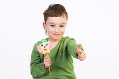 Κατσίκια με τα lollipops στοκ φωτογραφίες με δικαίωμα ελεύθερης χρήσης