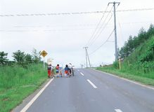 κατσίκια ποδηλάτων στοκ εικόνες