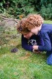 Κατσίκια που ερευνούν τη φύση στοκ εικόνες