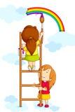 Κατσίκια που χρωματίζουν το ουράνιο τόξο ελεύθερη απεικόνιση δικαιώματος