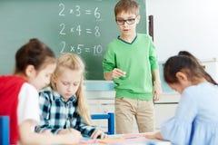 Κατσίκια στην τάξη Στοκ φωτογραφία με δικαίωμα ελεύθερης χρήσης