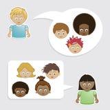 κατσίκια φίλων διανυσματική απεικόνιση