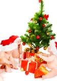 κατσίκια Χριστουγέννων Στοκ Φωτογραφίες