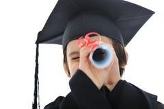 κατσίκι βαθμολόγησης διπλωμάτων λίγος σπουδαστής Στοκ φωτογραφία με δικαίωμα ελεύθερης χρήσης