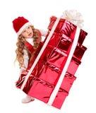 κατσίκι δώρων Χριστουγένν& Στοκ Εικόνα
