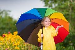 Κατσίκι με την ομπρέλα Στοκ Φωτογραφία