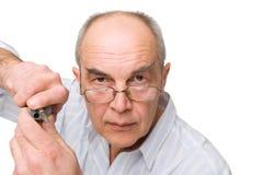 κατσαβίδι ατόμων γυαλιών &sig Στοκ Φωτογραφία