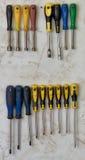 Κατσαβίδια στο toolwall Στοκ εικόνες με δικαίωμα ελεύθερης χρήσης