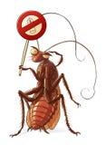 Κατσαρίδα ενάντια στα εντομοκτόνα Στοκ φωτογραφίες με δικαίωμα ελεύθερης χρήσης