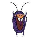 Κατσαρίδα με τα χέρια του επάνω Στοκ Εικόνες