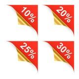 Κατσαρωμένα εμβλήματα αγορών γωνιών. 2$α απεικόνιση Στοκ φωτογραφίες με δικαίωμα ελεύθερης χρήσης