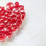 κατσαρωμένη καρδιά Στοκ Εικόνες