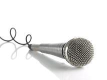 κατσαρωμένο καλώδιο mic στοκ φωτογραφία