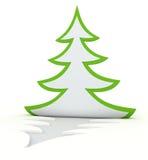 κατσαρωμένο Χριστούγεννα δέντρο Στοκ εικόνες με δικαίωμα ελεύθερης χρήσης