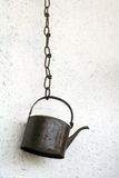 κατσαρόλα σιδήρου παλαιά στοκ εικόνα