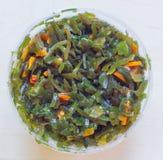 Κατσαρό λάχανο θάλασσας σε ένα πλαστικό βάζο Στοκ Εικόνες
