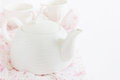 Κατσαρόλα για το τσάι Στοκ Εικόνες