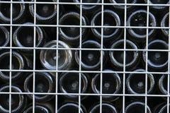 Κατώτατα σημεία των ανακυκλωμένων μπουκαλιών κρασιού Στοκ Εικόνα