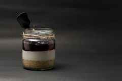 Κατώτατο γυαλί φραουλών διοσκορέων Στοκ Φωτογραφία