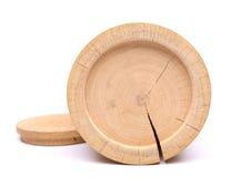 Κατώτατο σημείο του ξύλινου εμπορευματοκιβωτίου φλοιών σημύδων και της κάλυψής του Στοκ Εικόνα