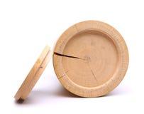 Κατώτατο σημείο του ξύλινου εμπορευματοκιβωτίου φλοιών σημύδων και της κάλυψής του Στοκ φωτογραφίες με δικαίωμα ελεύθερης χρήσης