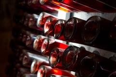 Κατώτατο σημείο των μπουκαλιών κρασιού Στοκ Εικόνα