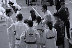 Κατώτερη πάλη Jitsu Jiu στο ρουμανικό πρωτάθλημα, νεώτεροι, το Μάιο του 2018 στοκ φωτογραφία με δικαίωμα ελεύθερης χρήσης