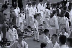 Κατώτερη πάλη Jitsu Jiu στο ρουμανικό πρωτάθλημα, νεώτεροι, το Μάιο του 2018 στοκ εικόνα με δικαίωμα ελεύθερης χρήσης