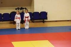 Κατώτεροι μαχητές Jitsu Jiu στο ρουμανικό πρωτάθλημα, νεώτεροι, το Μάιο του 2018 στοκ εικόνα με δικαίωμα ελεύθερης χρήσης