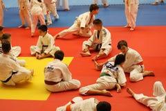Κατώτεροι μαχητές Jitsu Jiu στο ρουμανικό πρωτάθλημα, νεώτεροι, το Μάιο του 2018 στοκ φωτογραφία με δικαίωμα ελεύθερης χρήσης