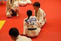 Κατώτεροι μαχητές Jitsu Jiu στο ρουμανικό πρωτάθλημα, νεώτεροι, το Μάιο του 2018 στοκ φωτογραφίες με δικαίωμα ελεύθερης χρήσης